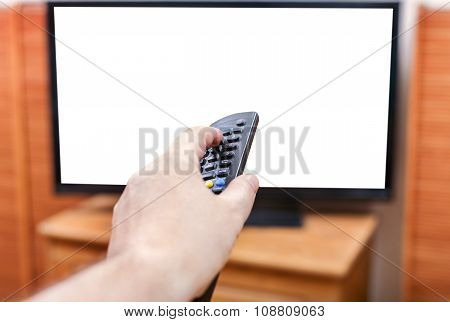 Switching Tv Channels With Cut Out Screen