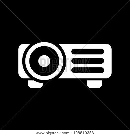 The projector icon. Presentation symbol. Flat