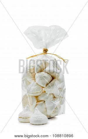 White Meringues In A Bag