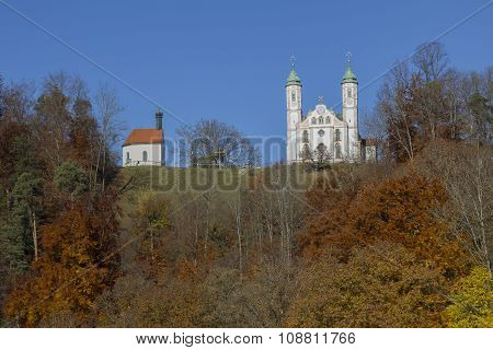 Little Chapel And Cloister On Calvary Hill, Bad Tolz