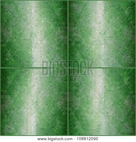 mosaic green background