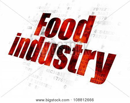 Industry concept: Food Industry on Digital background
