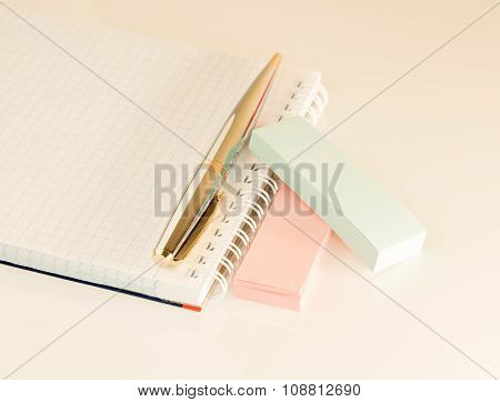 Stationery Set On A Light Background