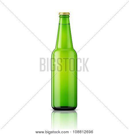 Green beer bottle template.