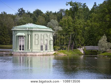 Venus pavilion in park 1793 year. Gatchina. Petersburg. Russia.