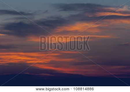 Beautiful sunset with colorful clouds
