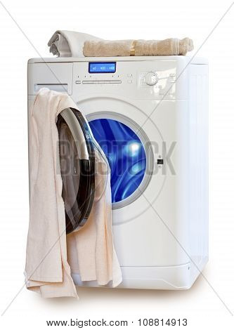 Washing machine and towels