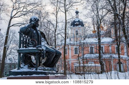 Monument to the great Russian poet Pushkin