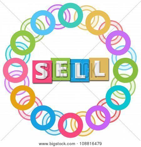 Sell Text Colorful Rings Circular