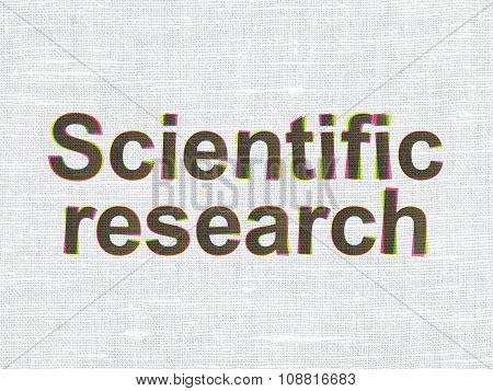 Science concept: Scientific Research on fabric texture background