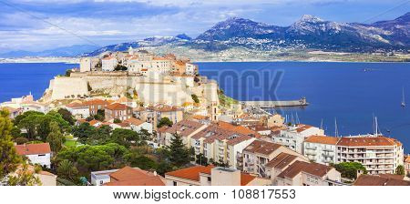 panoramic view of Calvi - Corsica island