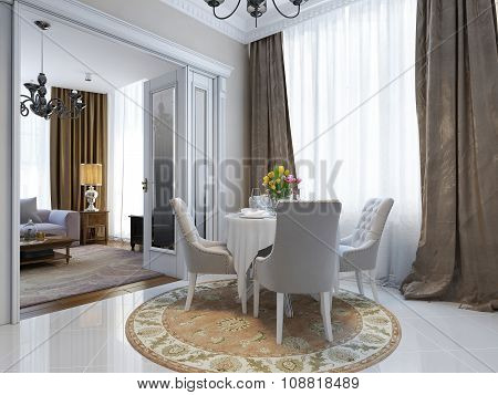 The Dining Room In Classic Style