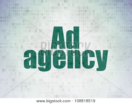 Advertising concept: Ad Agency on Digital Paper background