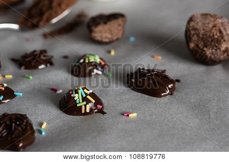 Small homemade chocolate candys