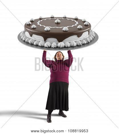 Big chocolate cake