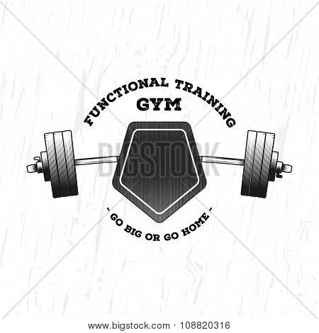 Monochrome fitness logo.
