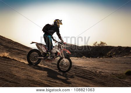 Racer On A Motorcycle