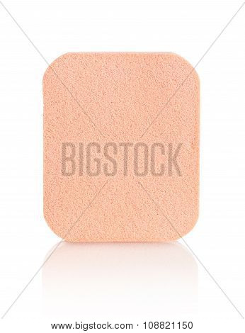 Face Sponge For Cosmetics Isolated On White Background