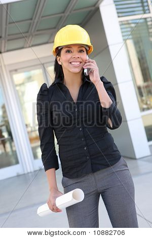 Hispanic Woman Architect