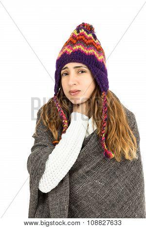 Woman Having Throat Ache