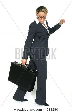Business Woman Walking