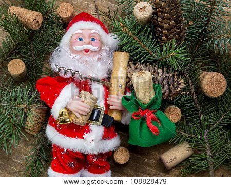 Santa Claus With Corkscrew
