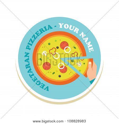 pizza icon for a italian restaurant pzzeria