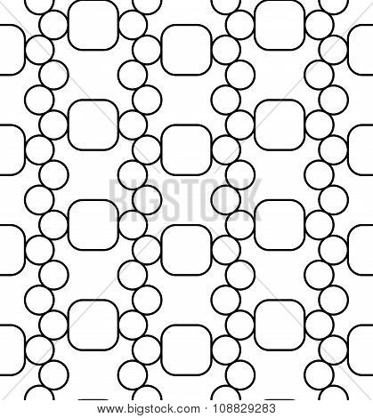 Vector modern seamless geometry pattern circes black and white abstract