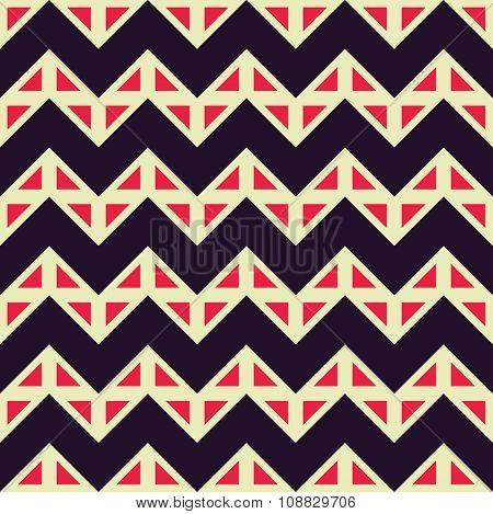 Vector modern seamless colorful geometry chevron lines pattern color abstract