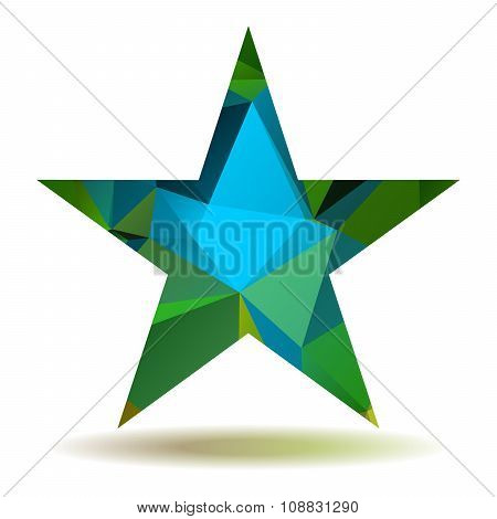 Abstract Triangular Star