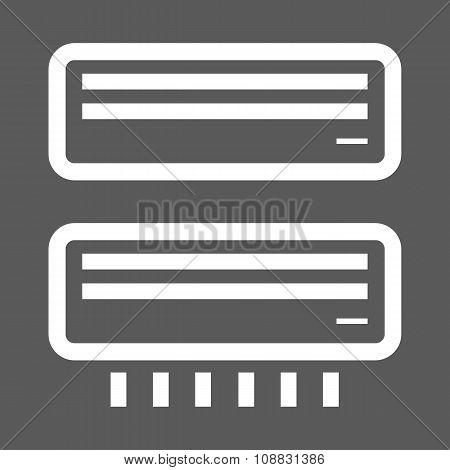 White airconditioner icons