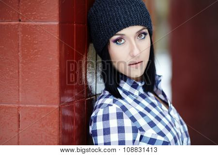 portrait of young stylish woman