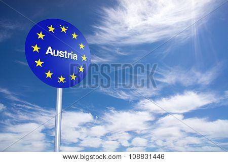Austria Border Sign