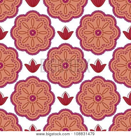 Pattern Maroon Flowers
