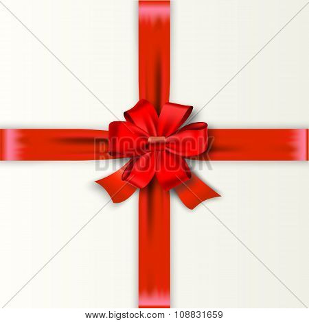 Red Ribbon with Satin Bow