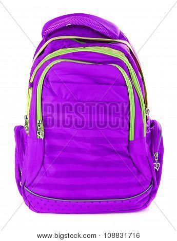 Violet school backpack
