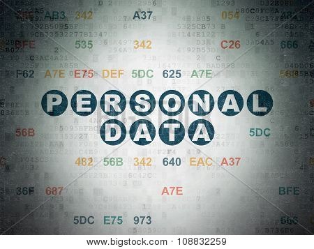 Information concept: Personal Data on Digital Paper background