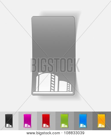 realistic design element. oil towers