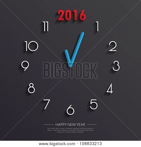 2016 Clock Face Background.vector/illustration.