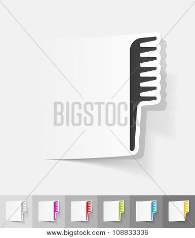 realistic design element. comb