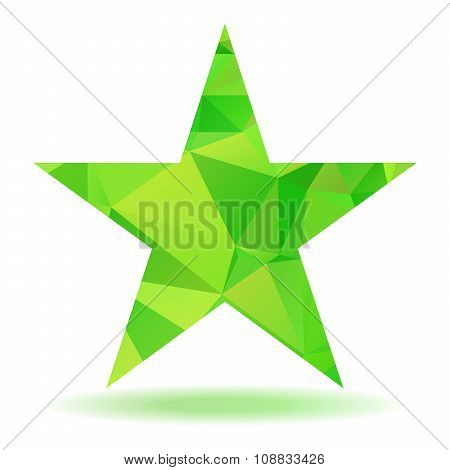 Abstract Triangular Star
