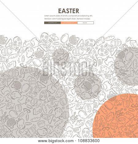 easter Doodle Website Template Design