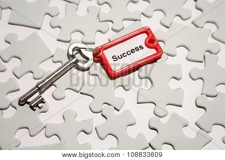 Single key on jigsaw puzzle pieces