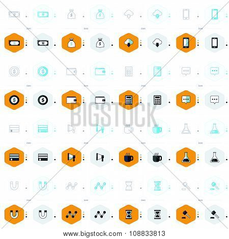 Office Icons 16 Design 4 Styles