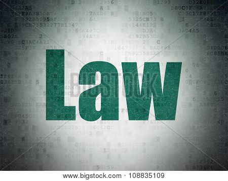 Law concept: Law on Digital Paper background