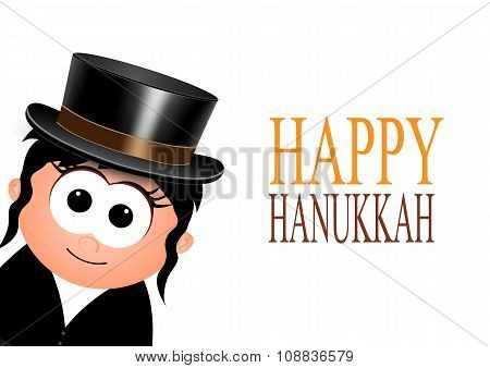Happy Hanukkah , greeting card.