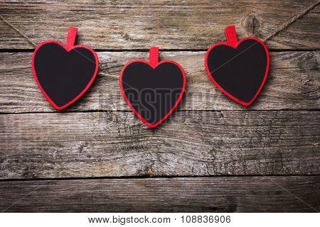 Three Heart Shaped  Chalk Boards