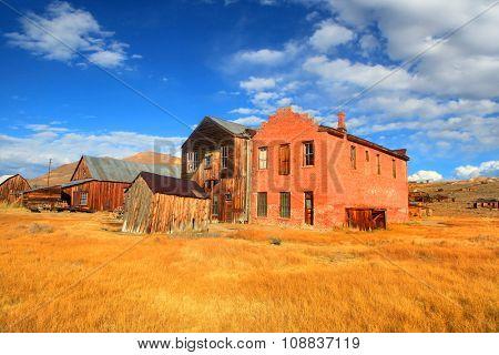 Preserved historic buildings in Bodie California