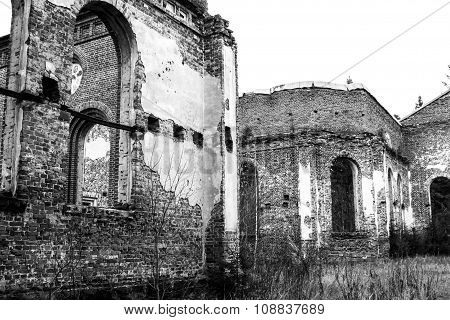 old ruins of a church