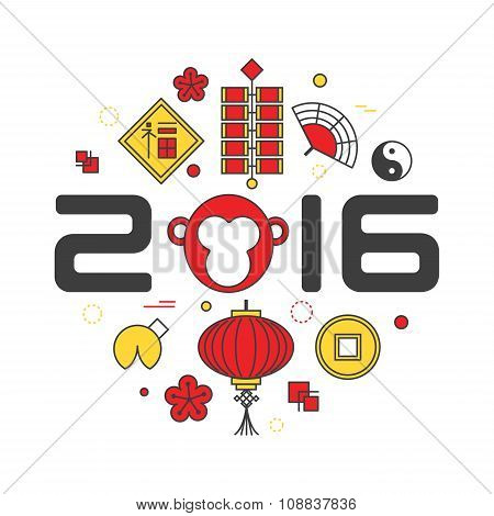 Chinese New Year 2016 - lunar year of the Monkey.